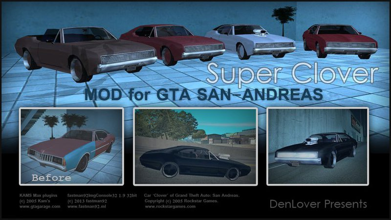 super clover addon gtasa custom mods for grand theft auto san