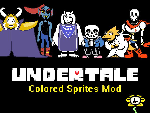 Colored Sprites Mod file - Undertale Remastered Mod v0 5 9