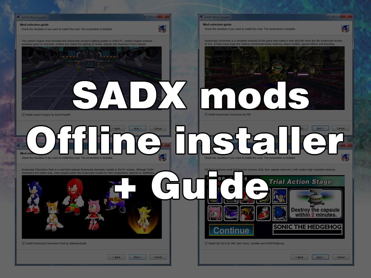 SADX Mods Offline Installer file - Dreamcast Conversion ...