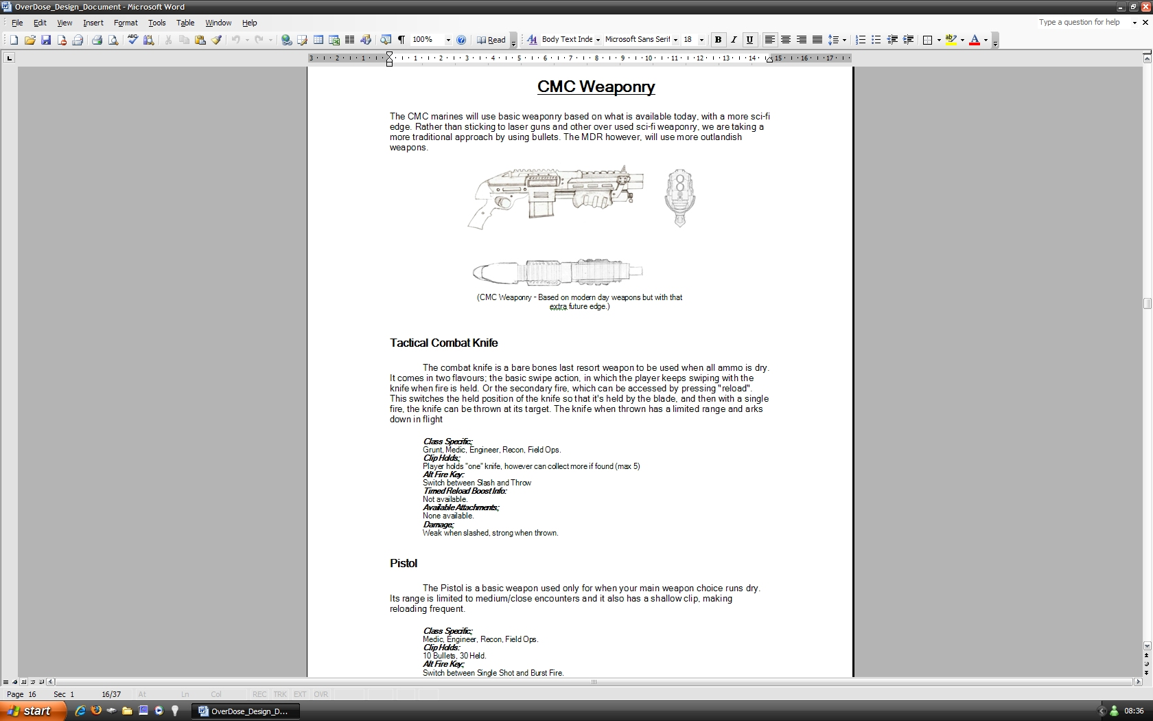 OverDose Game Design Document File Mod DB - Game technical design document
