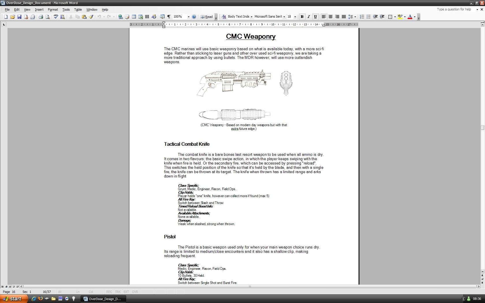 OverDose Game Design Document file - Mod DB