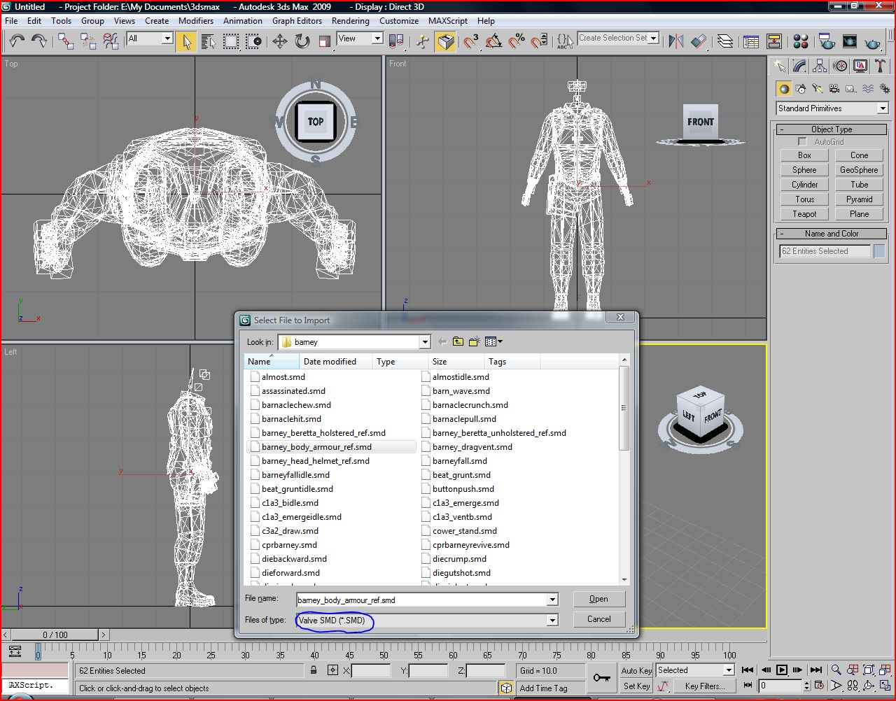 3D Studio Max SMD Import Plug-in - Import SMD mode file