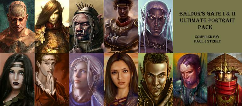 Ultimate Portrait Pack Baldurs Gate I Ii Addon Mod Db