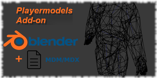 Playermodels support for the 3D modeling software Blender