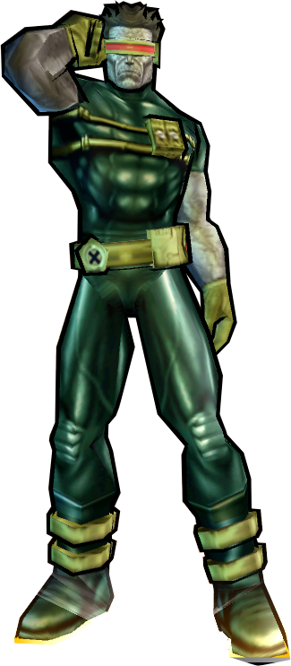 Cyclops' Dark Outfit Fix - PS2 skin addon - Marvel: Ultimate