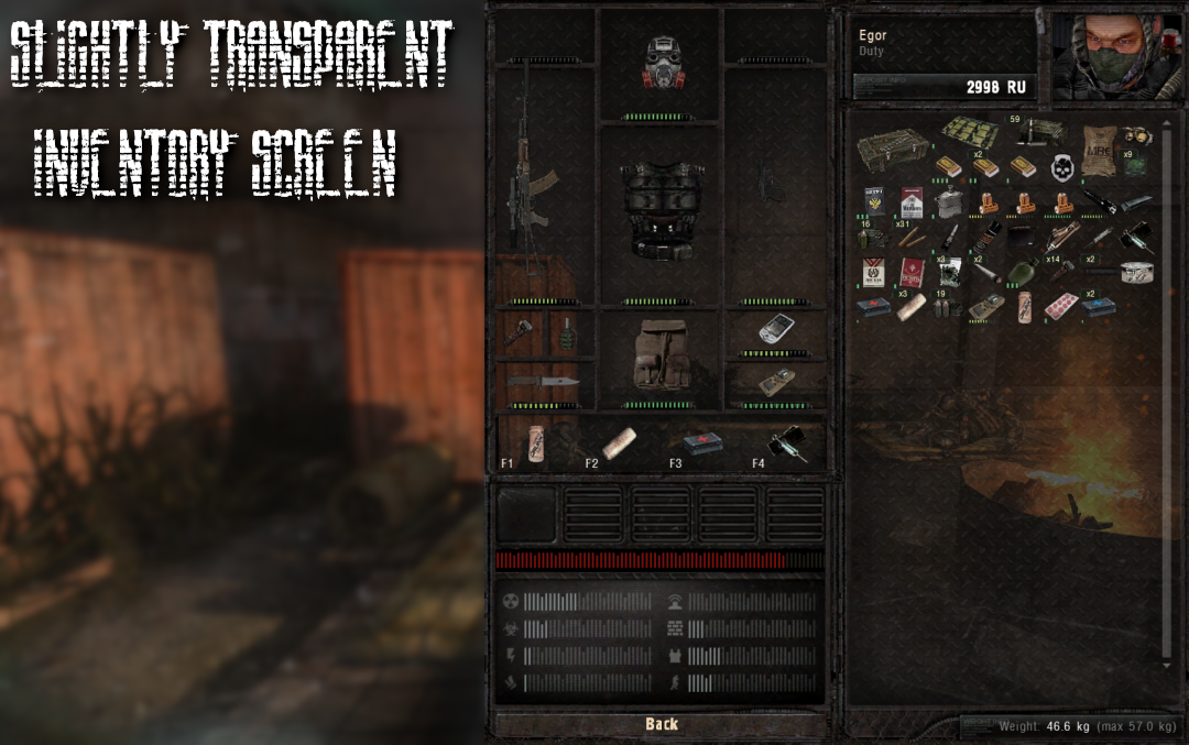 Transparent Inventory 1 5 Addon S T A L K E R Anomaly