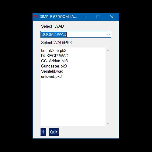 SIMPLE GZDOOM LAUNCHER v1 0 file - Mod DB