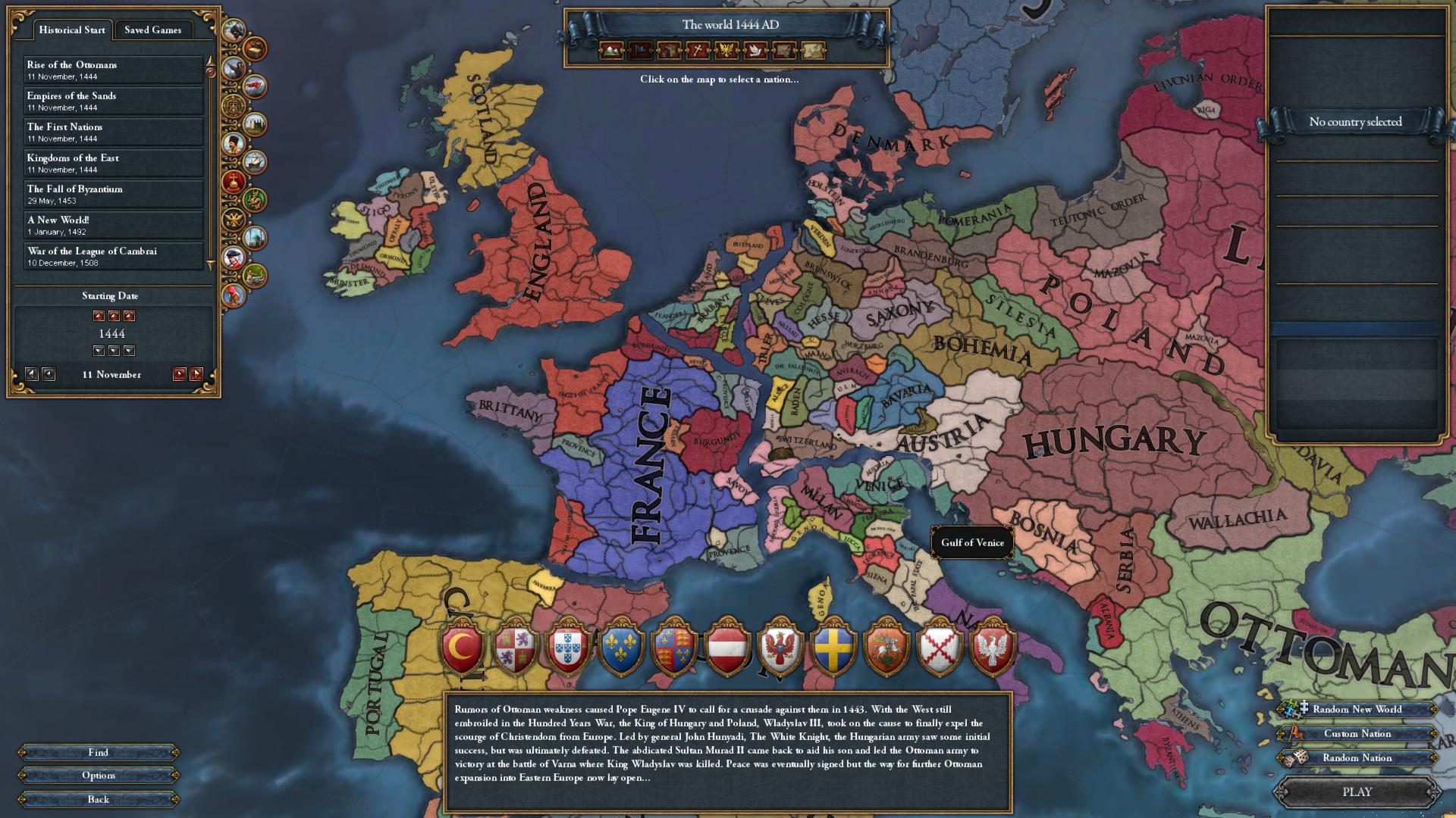My WIP mod that turns major regions into islands  : eu4