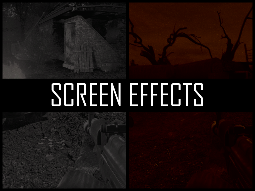 Screen Effects addon - S T A L K E R  Anomaly mod for S T A L K E R