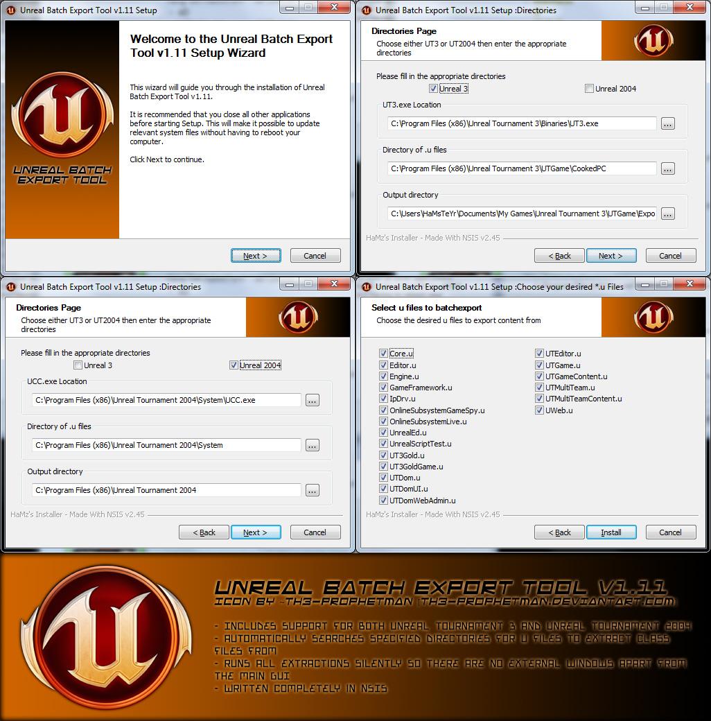 Unreal Batch Export Tool v1 11 file - Mod DB