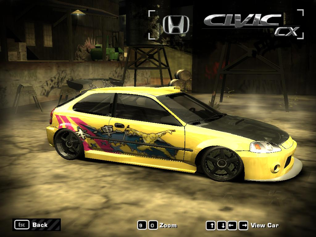 Honda Civic Cx Addon Need For Speed Most Wanted Mod Db