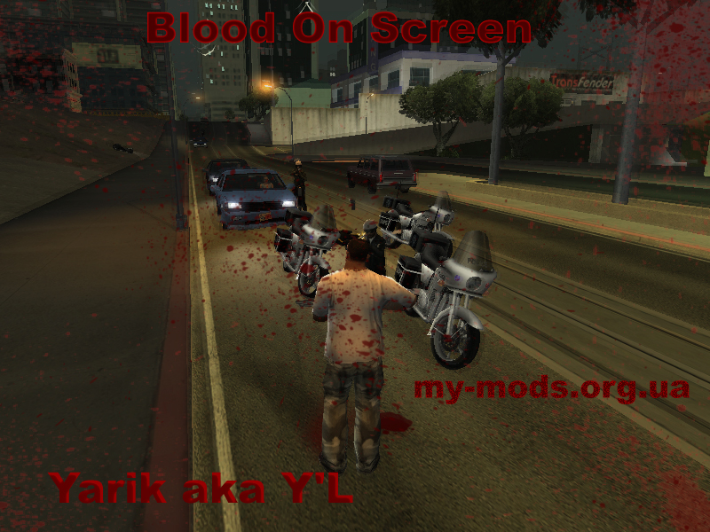 Blood On Screen file - samp mods for Grand Theft Auto: San