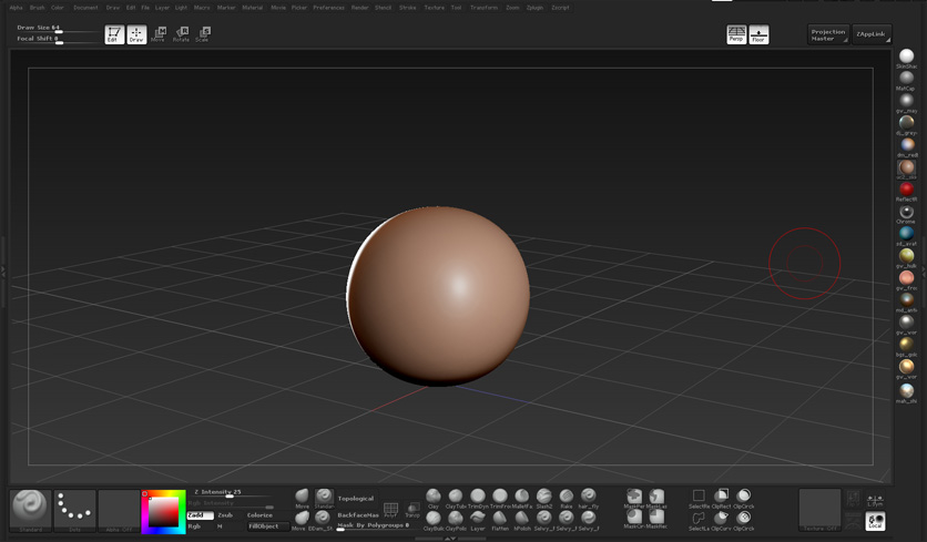 custom User Interface for ZBrush 4 0 that simplifies the workspace    Zbrush Interface