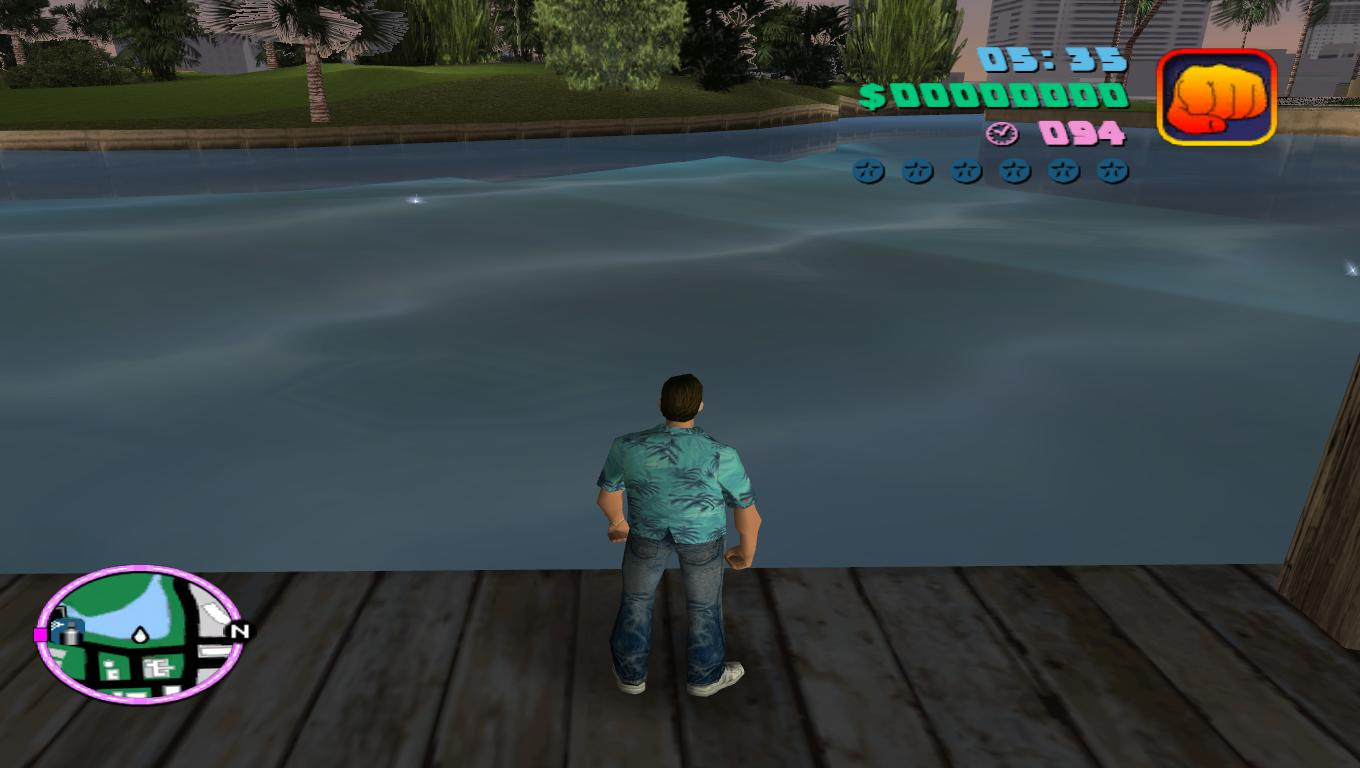 New realistic water for Grand Theft Auto Vice City addon