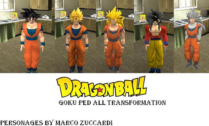 Skins De Dragon Ball Z Para Gta San Andreas  MU MF