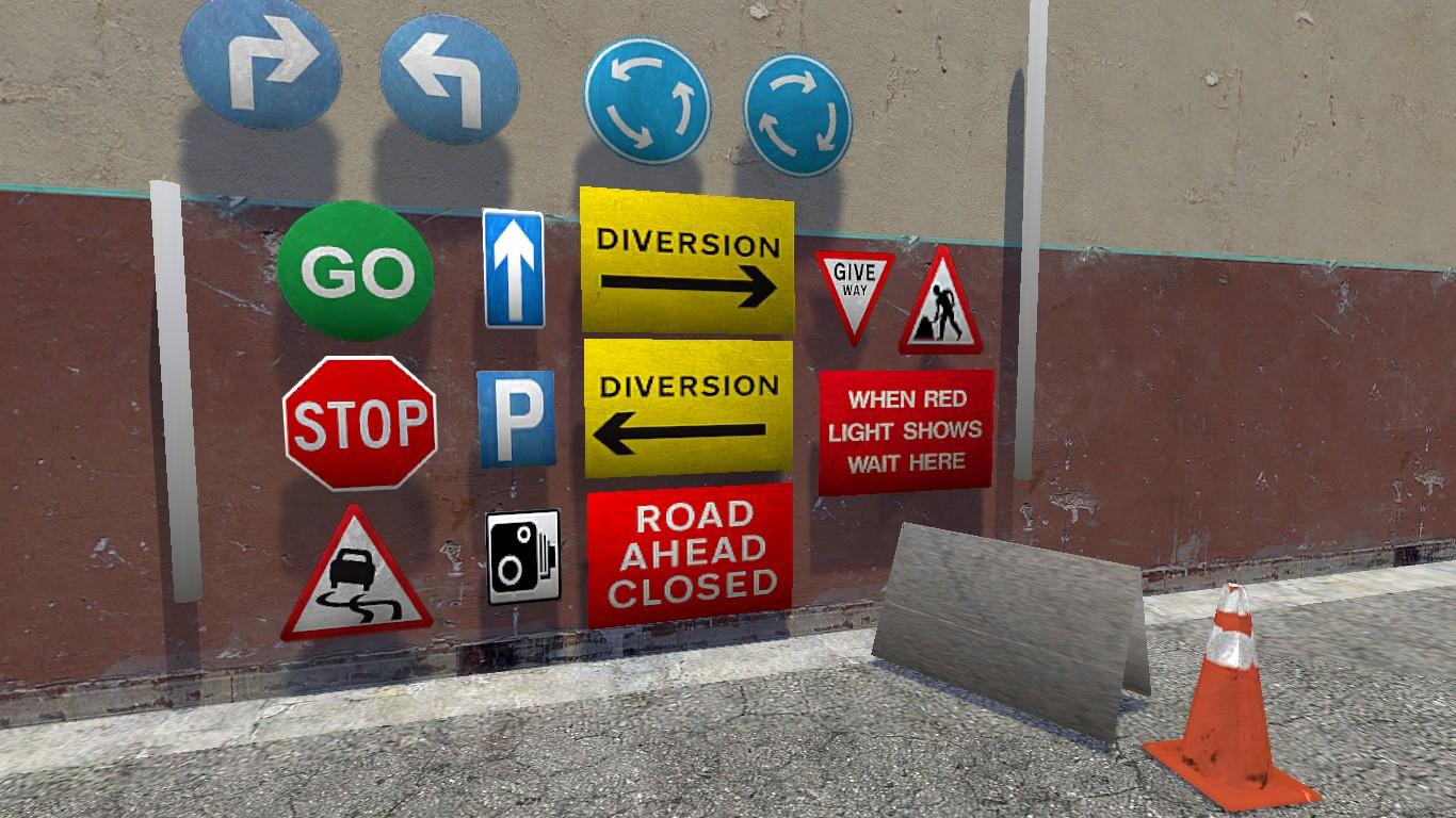 Road Signs Model Pack 2 1 addon - Garry's Mod - Mod DB
