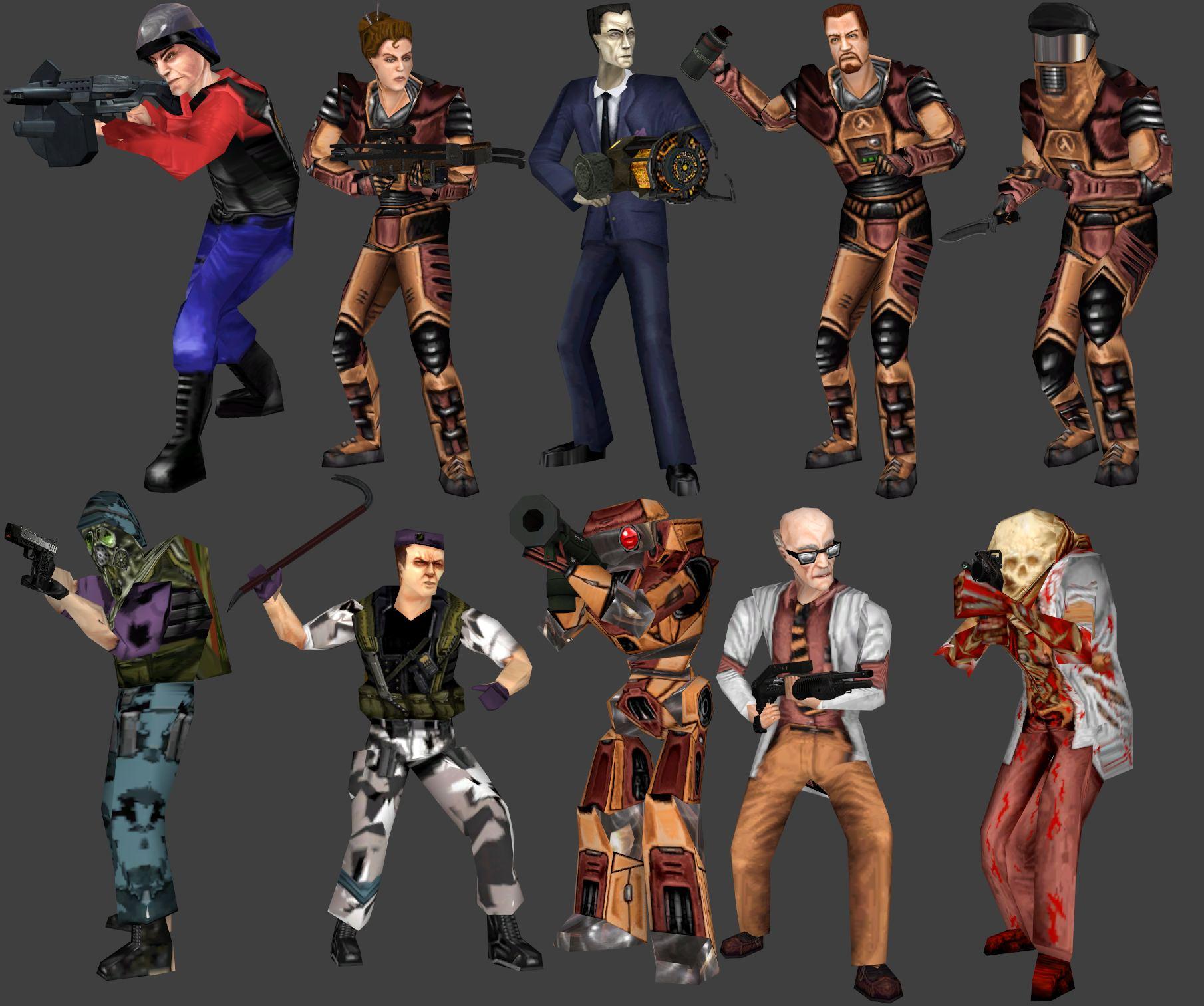 Half-Life Deathmatch: Source Playermodels addon - Garry's Mod - Mod DB