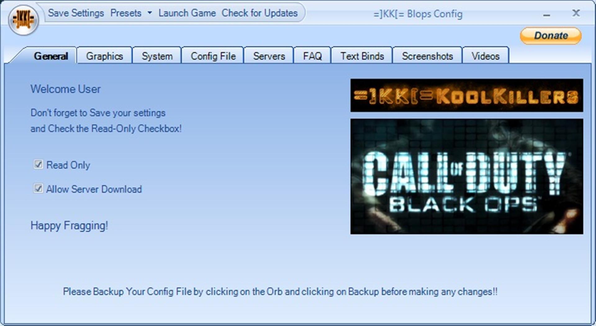 KK[= Black Ops Config Tool file - Mod DB
