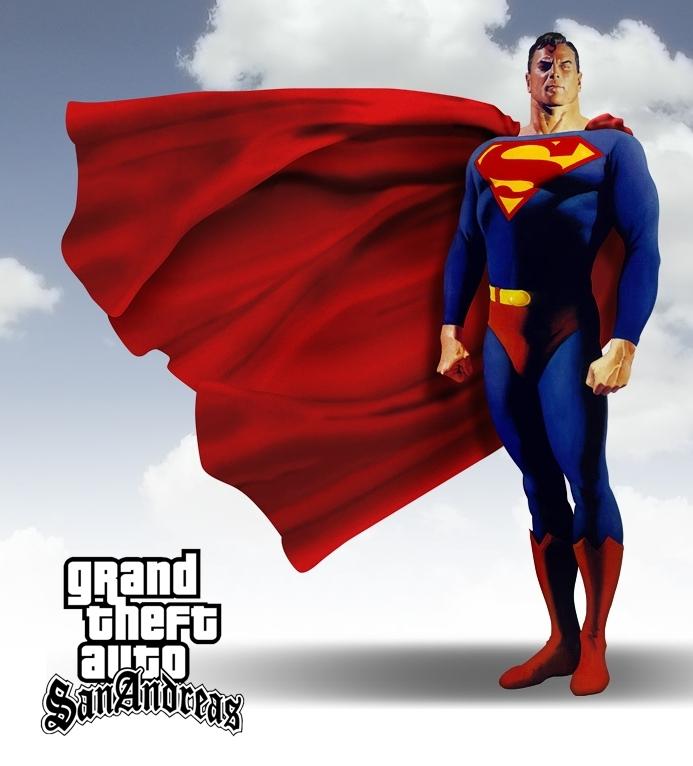 GTA SA Superman MOD file - Grand Theft Auto: San Andreas
