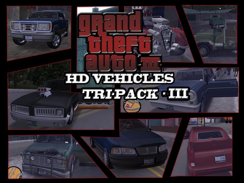 GTA3HDVEHICLES Tri-Pack III file - Mod DB