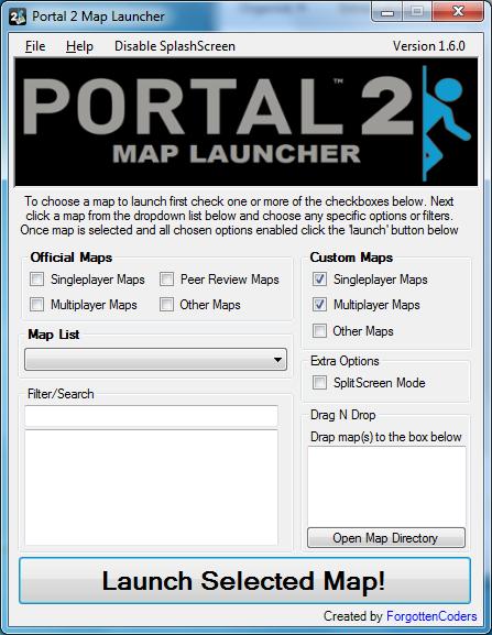 Portal 2 Map Launcher file - Mod DB