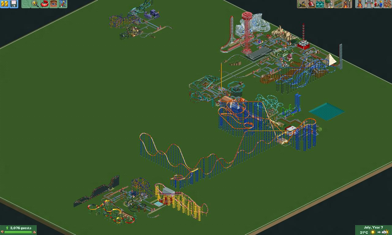 Blackheart Studios Theme Park addon - RollerCoaster Tycoon 2