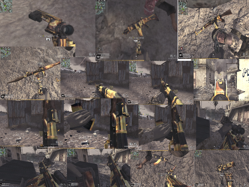 Flames Weapon Camo/Skin Custom Pack addon - Call of Duty 4