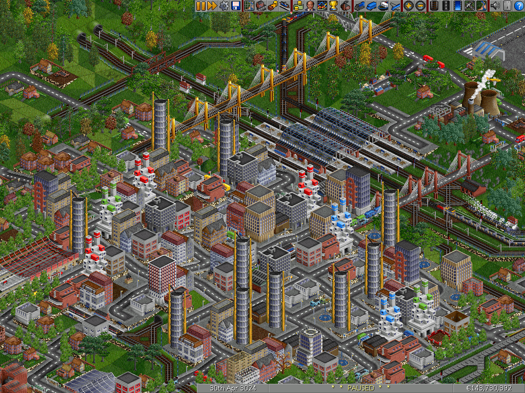 openttd how to connect stations