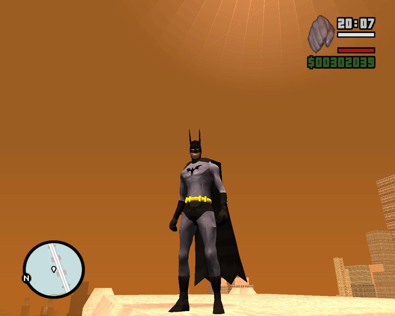 Batman ped addon - GTA WHATEVER mod for Grand Theft Auto: San