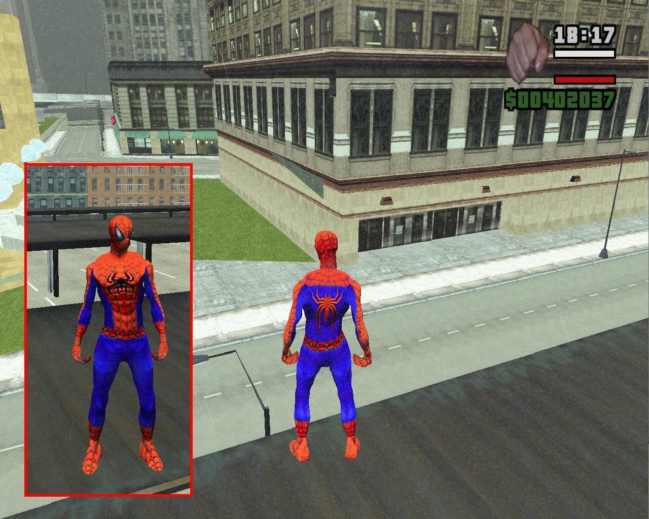 gta san andreas spiderman mod download pc free