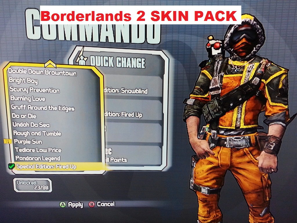 Borderlands 2 All Character/Cars Skins addon - Mod DB