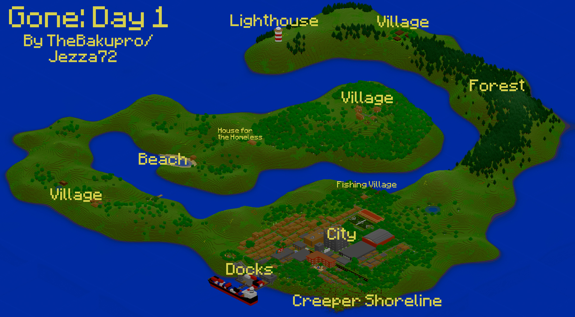 Gone day 1 dayz inspired custom map addon minecraft mod db gone day 1 dayz inspired custom map sciox Image collections