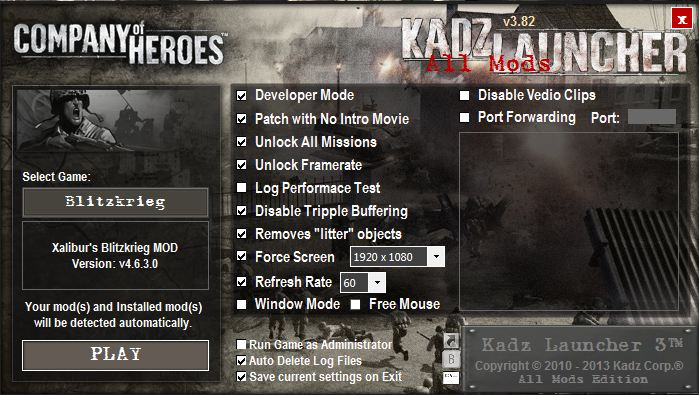 Outdated Kadz Launcher 3 82 File Company Of Heroes Mod Db