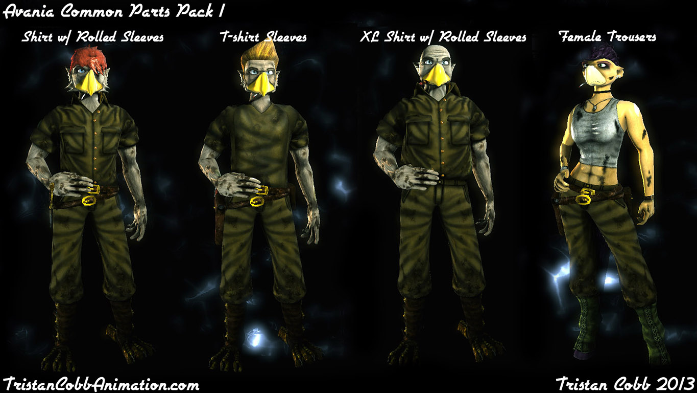 Character Design Unreal 4 : Avania ut character parts pack addon unreal