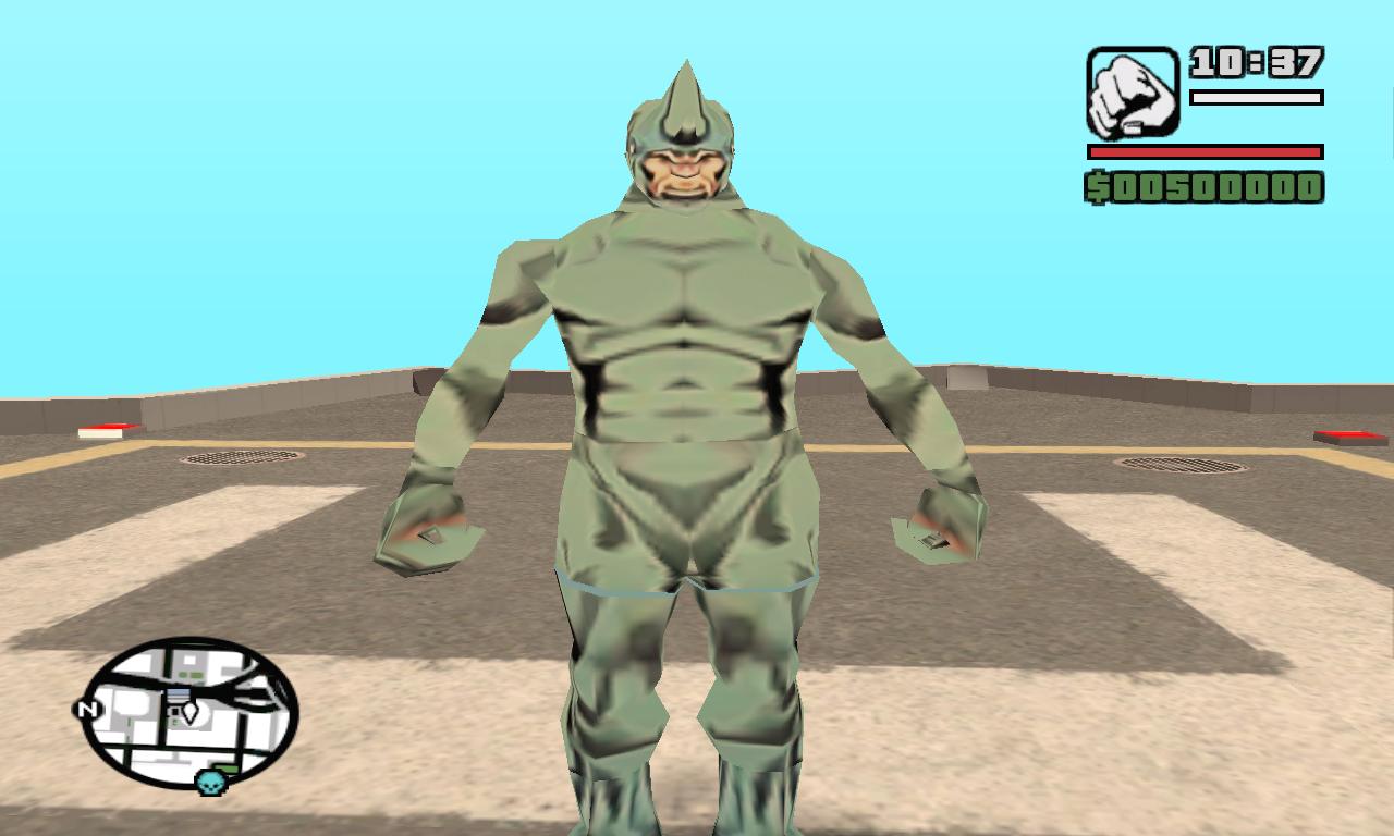 Rhino ped file - GTA San Andreas Marvel Spider man Mod for Grand