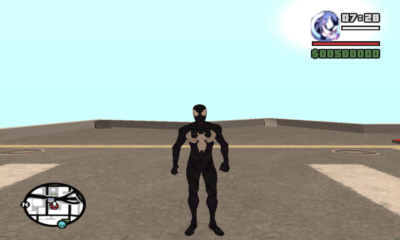 Symbiote Spiderman ped file - Mod DB