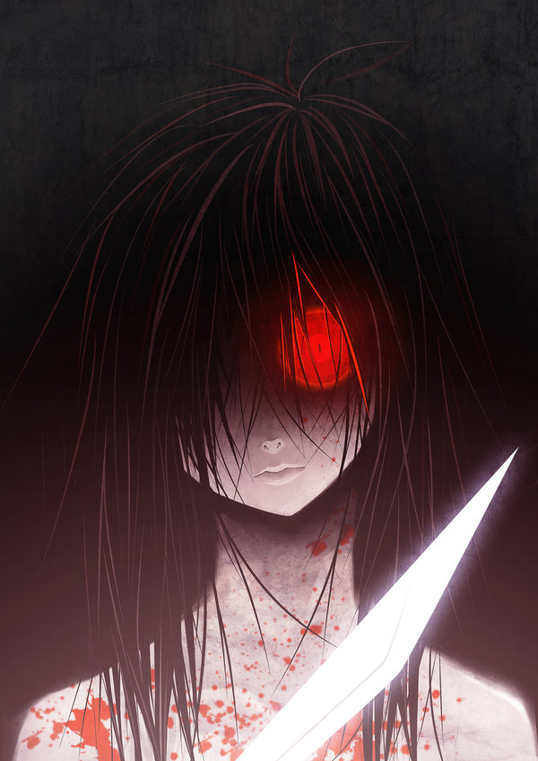 Scary Bloody Anime Face Scary Bloody Anime Girl