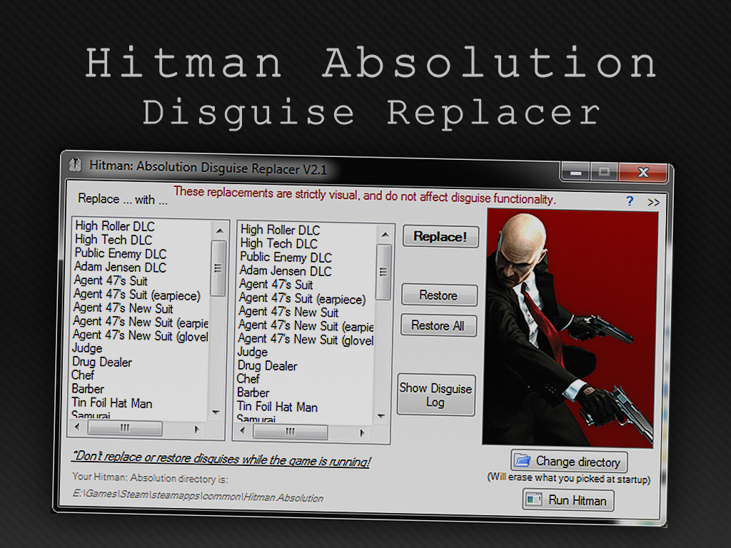 Hitman Absolution Disguise Replacer File Mod Db