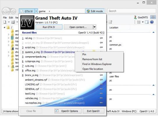 OpenIV v1 5 file - Grand Theft Auto IV - Mod DB