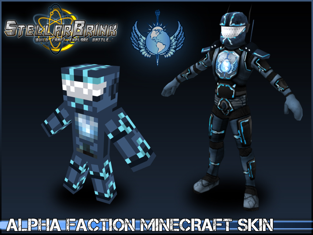 Alpha Faction Minecraft Skin Addon StellarBrink OpenWorld - Minecraft skins fur mac