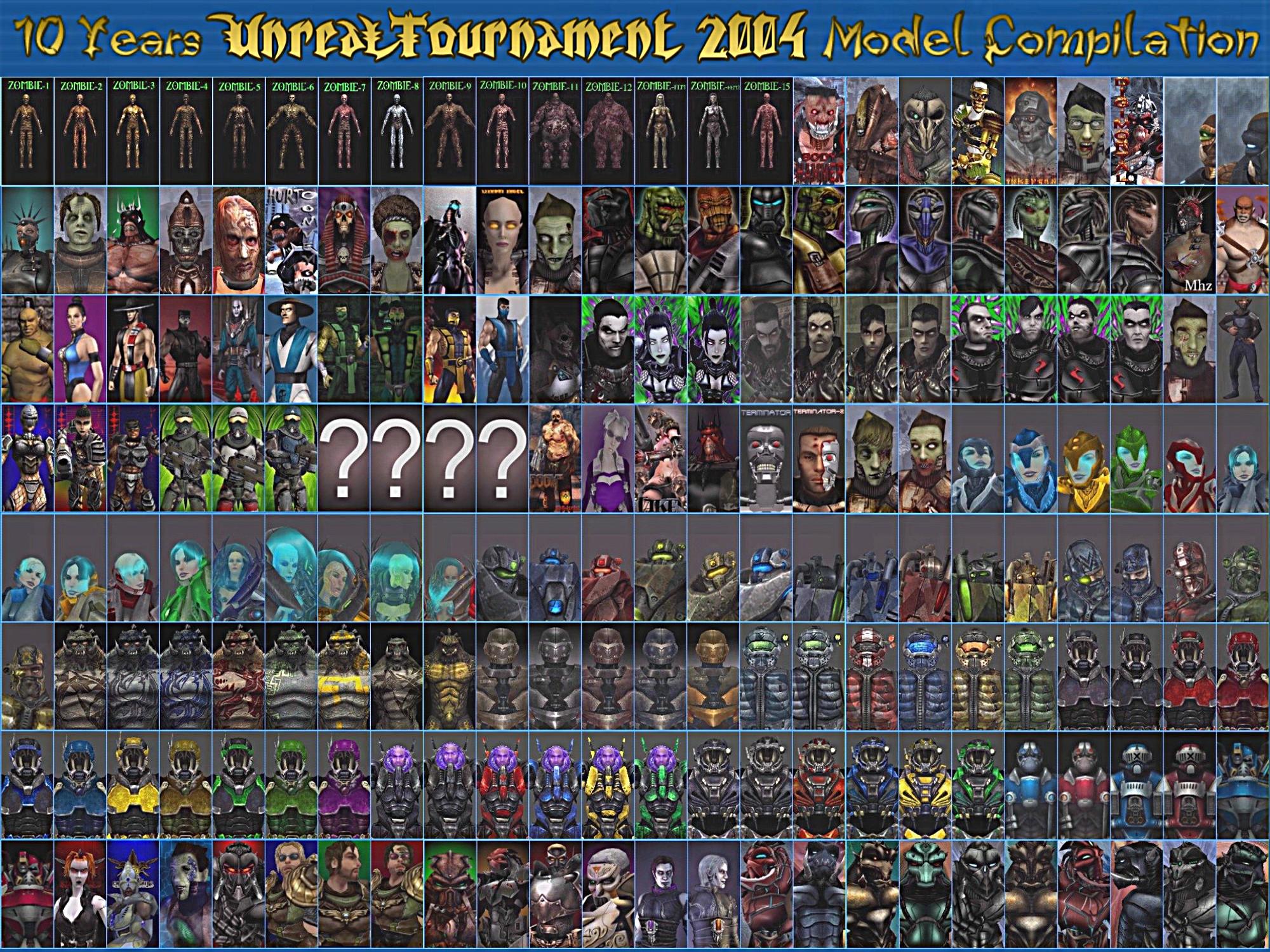 Ut2k4 anniversary model compilation addon unreal tournament 2004.