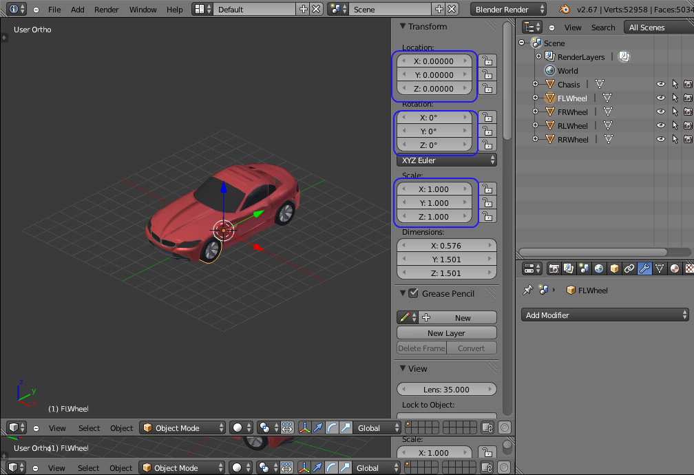 Modelling in blender to the jmonkeyengine file - Street