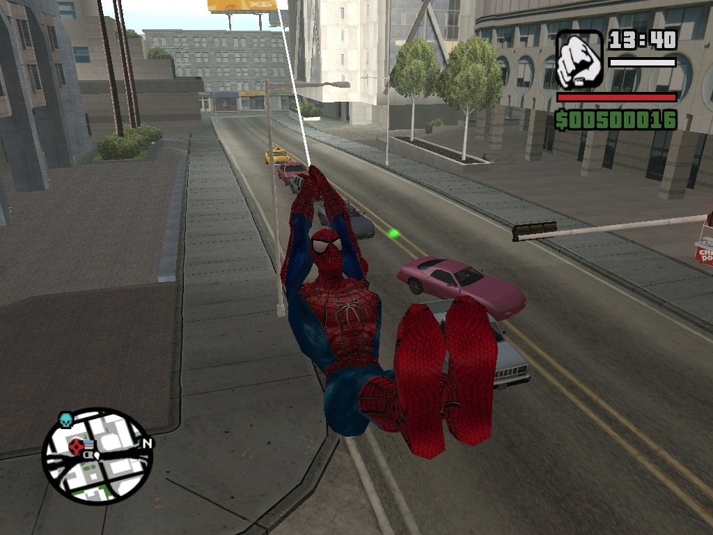 Real Web swing,Webzip, and Web shoot file - GTA San Andreas Marvel
