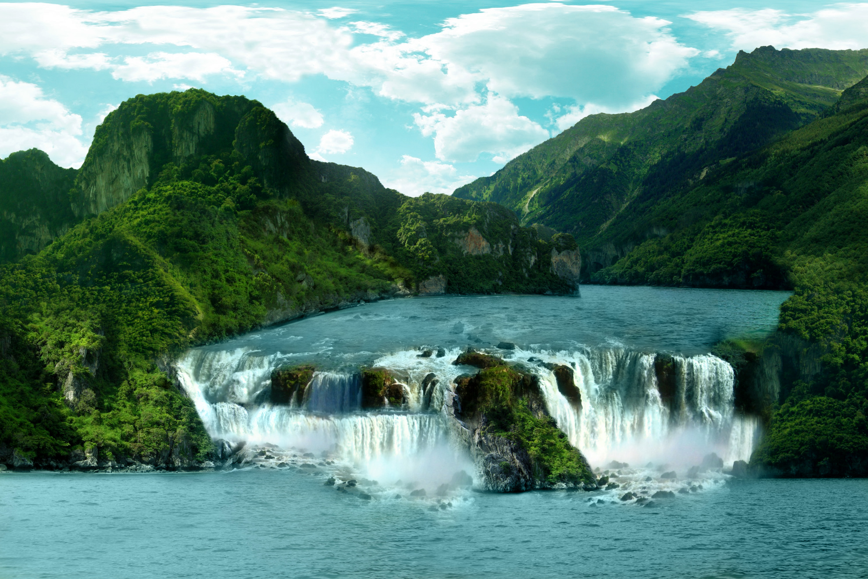 Exotic Waterfall Wallpaper: HD Wallpaper File