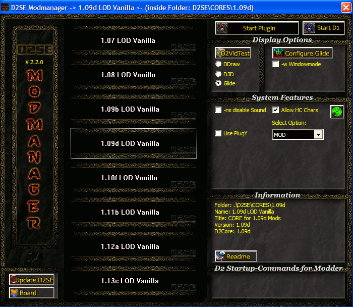 D2SE Modmanager addon - Median XL mod for Diablo II: Lord of