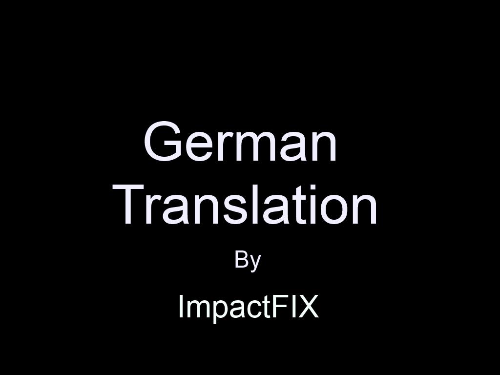 Premonition german translation file mod db for Translation german farcical