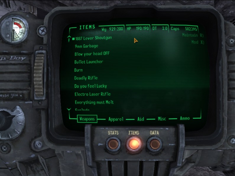 Fallout  Game Crash When Crafting Is Selected