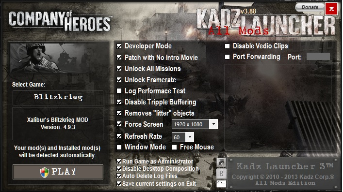 Kadz Launcher 3 88 4 Installer File Company Of Heroes Mod Db