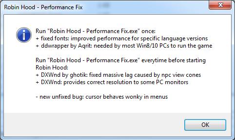 Robin Hood - Performance Fix file - Mod DB