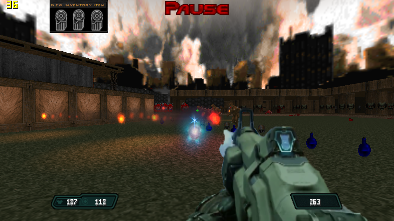 Doomzone weapons mod for doom 2 by silent zorah.